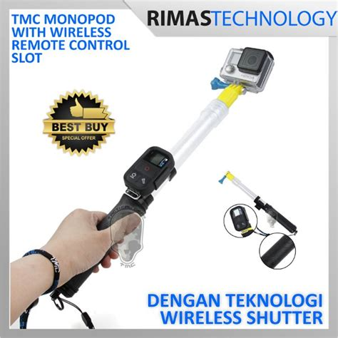 Tongsis Wireles jual termurah tmc monopod floating extension pole with
