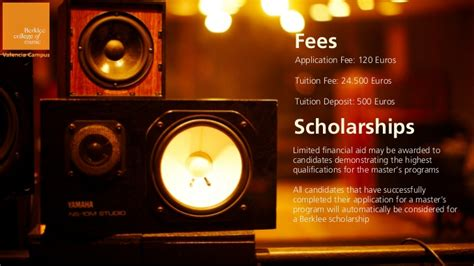 Berklee Scholarship Letter berklee valencia info session