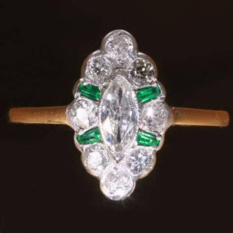 marquise engagement ring emerald marquise