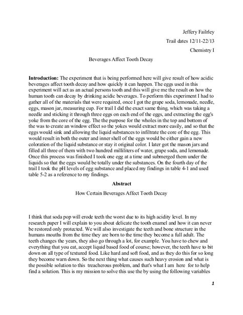 egg drop lab report template lab report tooth decay