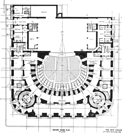 floor plan theatre file new theatre ground floor plan the architect 1909