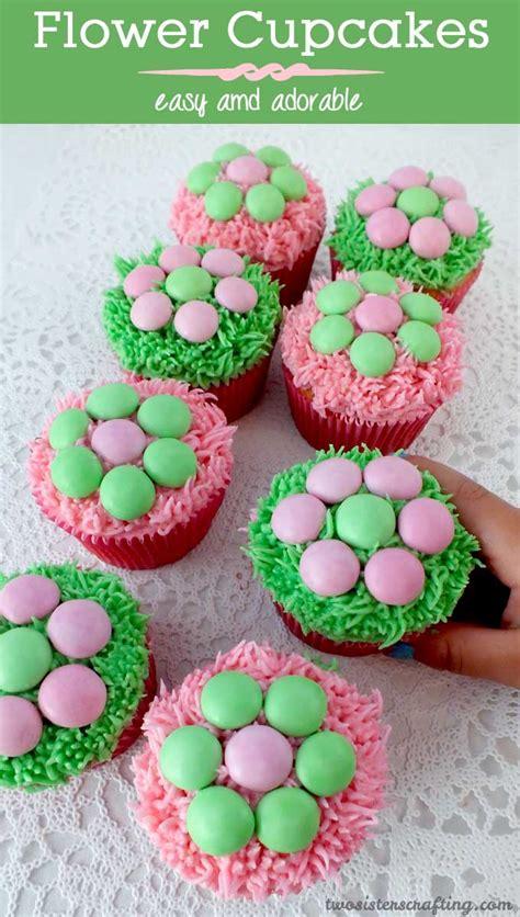 flower cupcakes  sisters