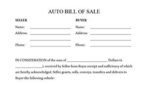 Auto Bill Of Sale Form Auto Bill Of Sale Oklahoma Template