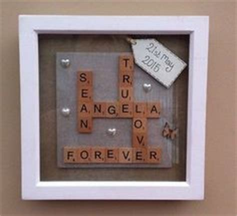 scrabble anniversary scrabble personalised rustic engagement frame picture