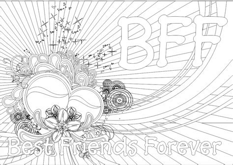 free i love my bff coloring pages