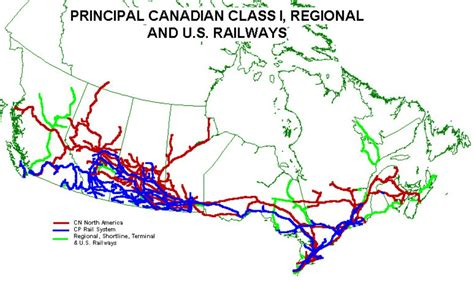 railway map canada canada railway map