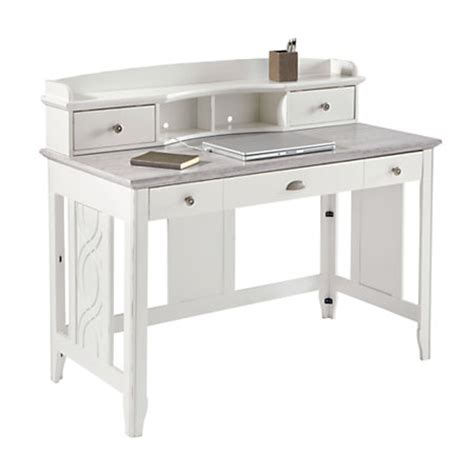 see work faux marble desk with hutch 39 h x
