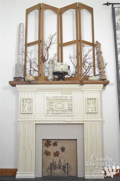 country mantel decor mantel decor for autumn country design style