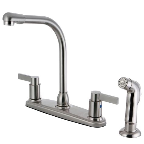 8 kitchen faucet kingston brass fb2758ndlsp nuvofusion 8 inch centerset