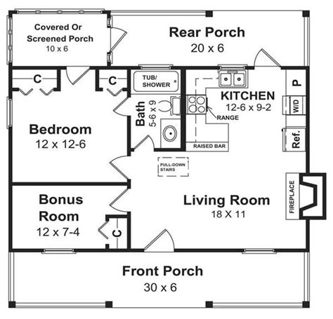 Small Vacation Home House Plan 141 1140 600 Square Foot Ranch House Plans