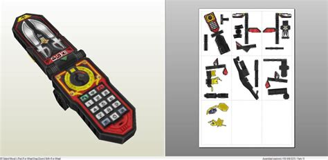 Power Rangers Morpher Papercraft - papercraft pdo file template for power rangers
