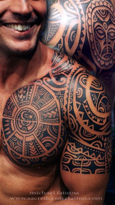 tribal shoulder and chest tattoos 108 original ideas for that are epic