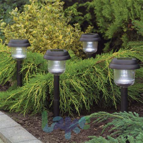 10 Pack Solar Garden Lights Black Plastic Finish Solar Lights For Garden