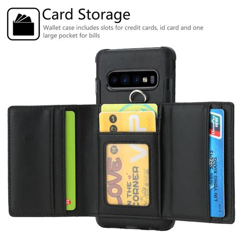Samsung Galaxy S10 Wallet by For Samsung Galaxy S10 Plus S10e Leather Wallet Card Slot Phone Cover Ebay