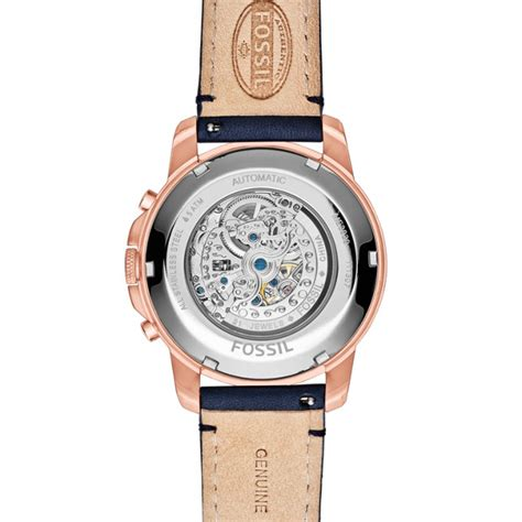 Fossil Me 3029 grant automatic navy leather fossil