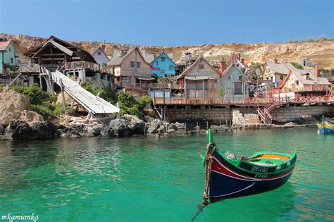 living on a boat malta popeye village a photo from malta south trekearth