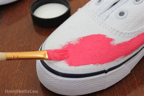 how to paint shoes painted tennis shoes how to nest for less