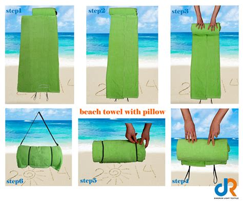 Towel With Pillow Attached by Solid Colour Towel With Pillow