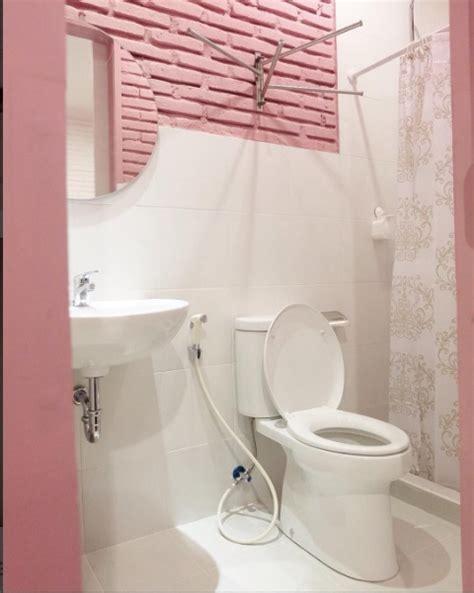 desain kamar mandi shabby guest house di lombok terapkan konsep shabby chic rumah