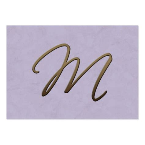 business card monogram template cursive monogram m large business cards pack of 100