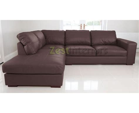 large brown corner sofa venice left hand corner sofa brown faux leather w chaise