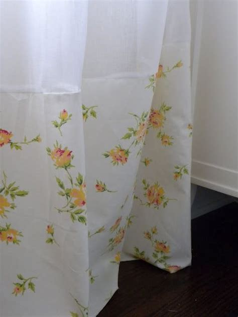 extra long curtains ikea 5 ways to use vintage sheets long shower curtains extra