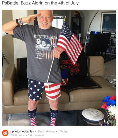 Patriotism Patriotism Everywhere Buzz And Woody Meme - patriotic buzz aldrin sparks best photoshop battle ever