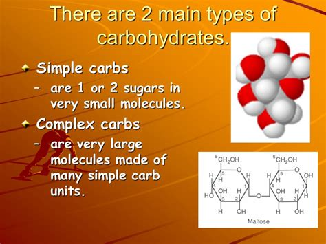 carbohydrates 2 types carbohydrate notes ppt
