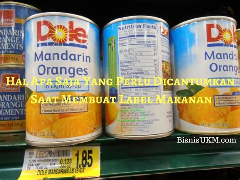 Membuat Label Kemasan hal apa saja yang perlu dicantumkan saat membuat label makanan