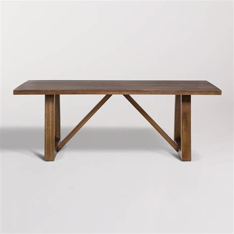 84 Dining Table by Mendocino 84 Rectangular Dining Table Alder Tweed Furniture