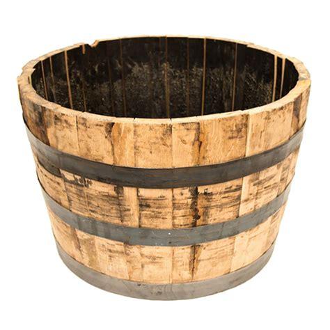 oak wood whiskey barrel planter   home