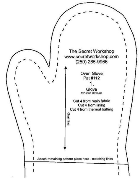 sew easy templates template for a mitten new calendar template site