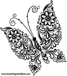 butterfly mandala colouring cooloring com