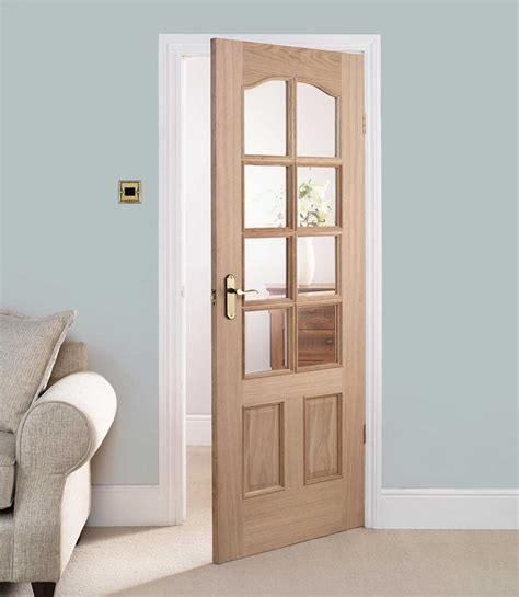 Interior Glass Panel Doors Designs with 30 X 80 Interior Door With Glass Are Chosen Often For Living Rooms In Modern Style