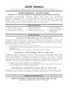 Resume Templates Accounts Payable Accounts Receivable Resume Template Resume Builder