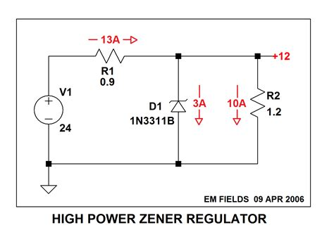 2 zener diodes in series what will happen at output current when two zener diode is in series electrical engineering