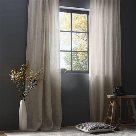 linen blackout drapes belgian flax linen curtain natural west elm