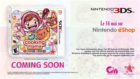 3ds Cooking Sweet Shop Asia cooking sweet shop trailer 3ds