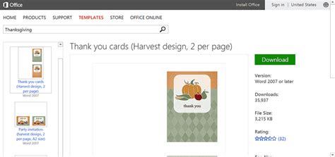 microsoft office templates thank you cards best free thanksgiving templates for microsoft office