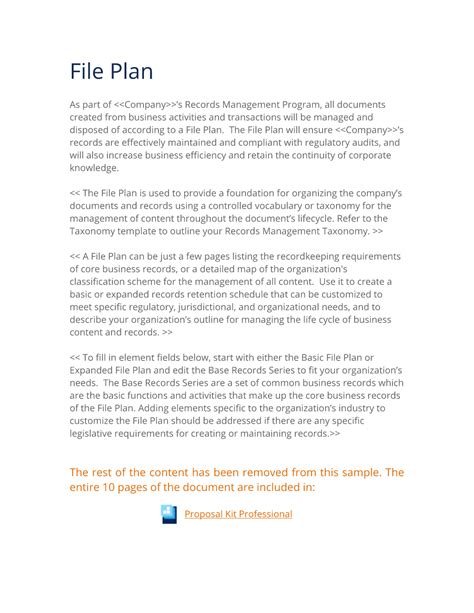 file plan template records management records management expanded file plan template