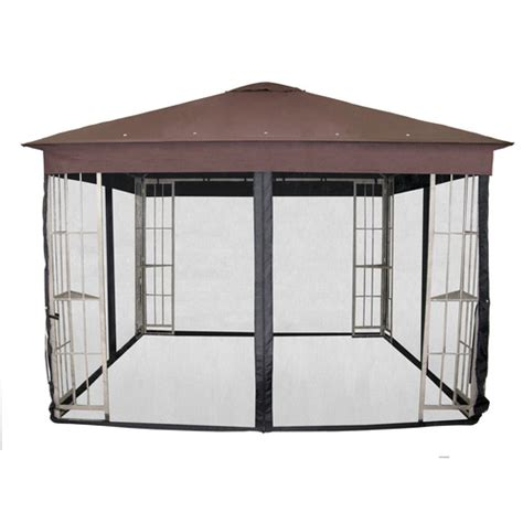 Garden Treasures Insect Net For 10 Ft Square Gazebo At Patio Gazebo Lowes