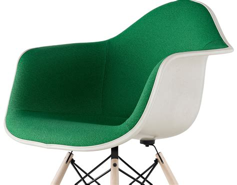 armchairs upholstered eames 174 upholstered armchair with dowel base hivemodern com