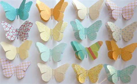How To Make Paper Decorations For - paper butterflies decorations animal