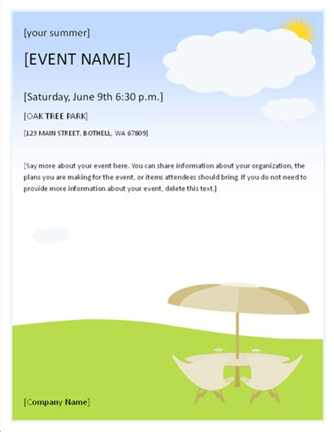 flyers templates summer event flyer event flyers