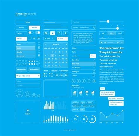 latest  mobile ui elements design kits
