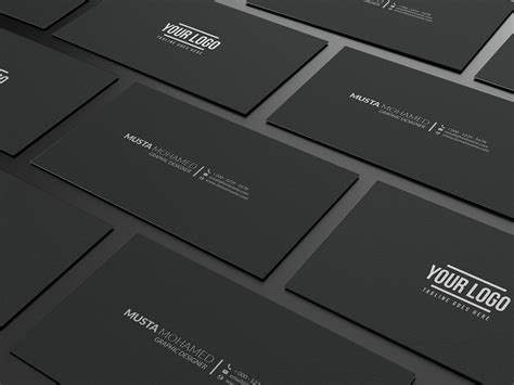 youtube hostname pattern clean black minimal business card business card