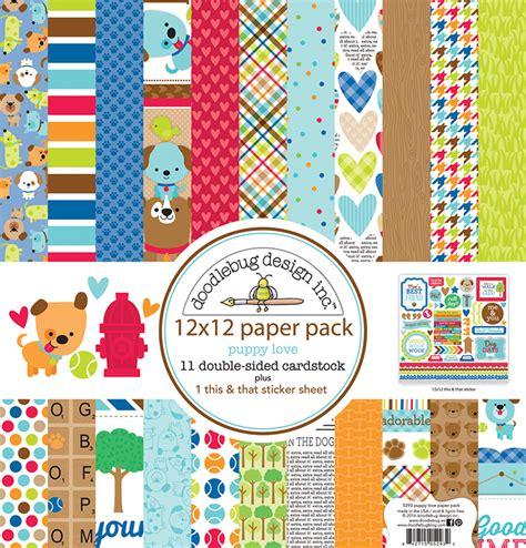 doodlebug paper packs doodlebug design puppy 12 x 12 paper pack