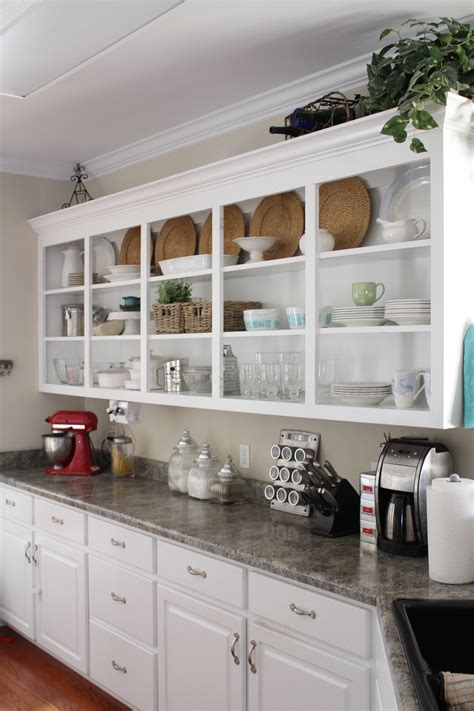 open cabinets open kitchen shelving culture scribe