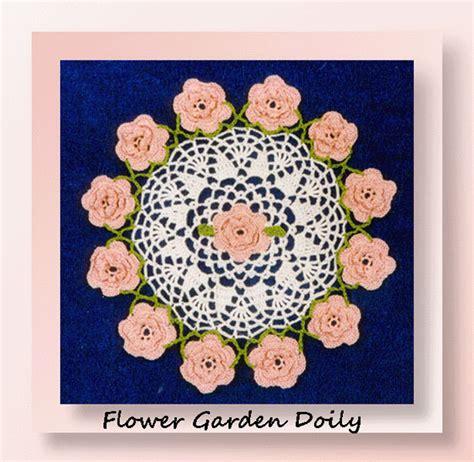 Garden Doily Flower Garden Doily Crochet Floral Doily Patterns