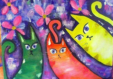 cuadros curiosos tres curiosos coloridos isidora ubilla palacios